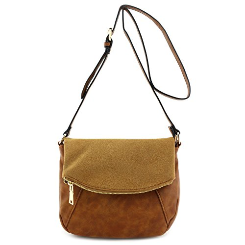 Faux-Calfskin-Leather-Crossbody-Bag-with-Suede-Flap