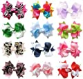 "Ship From USA--HipGirl Boutique Girls Small 3"" Spike Hair Bow Clips, Barrettes Value Pack"