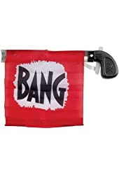 Star Power Starter Prank Bang Gun Flag Pistol Red Black White 5""