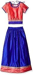 Atayant Girl Lehenga Choli (ATAYK_038_3:4YR_Pink:Blue_M)