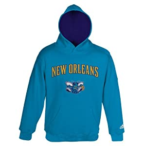NBA New Orleans Hornets Youth 8-20 Pull Over Hoodie, Blue by adidas