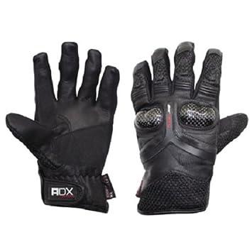 Gants moto ADX RS1 - Mi-saison - Cuir et textile - Noir - Taille S