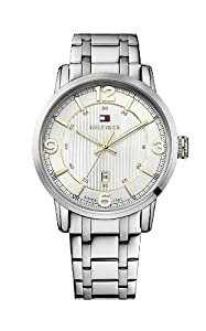 Tommy Hilfiger George Men's Quartz Watch with Silver Dial Analogue Display and Silver Stainless Steel Bracelet 1710344