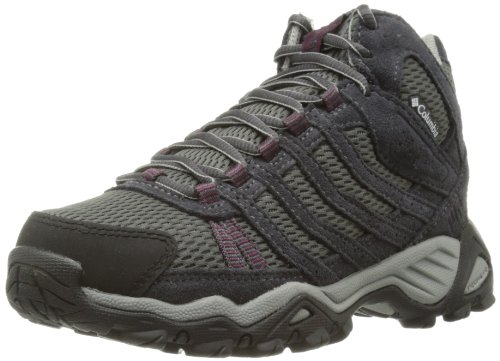 Columbia Women's Helvatia Mid Waterproof Trail Shoe,Asphalt/Currant,9 M US