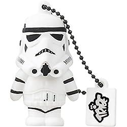 Tribe FD007502 Disney Star Wars Pendrive 16 GB Simpatiche Chiavette USB Flash Drive 2.0 Memory Stick Archiviazione Dati, Portachiavi, Stormtrooper, Bianco