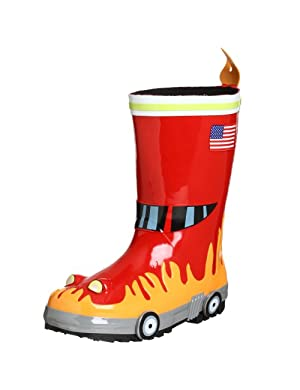 Kidorable Toddler/Little Kid Fireman Rain Boot