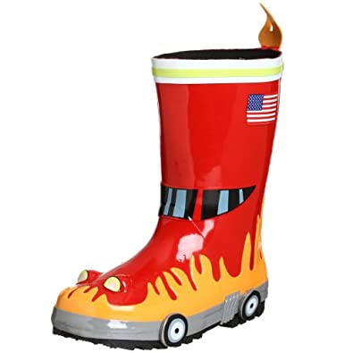 Kidorable Little Boys' Fireman Rain Boot , Red, 5