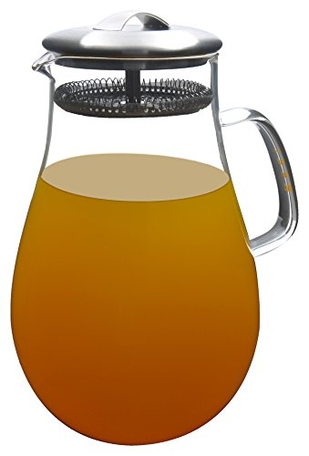 68 Oz Large Heat Resistant Glass Beverage Pitcher with Stainless Steel Lid - Borosilicate Water Carafe with Spout and Handle - Perfect for Homemade Juice & Iced Tea by IBBM (Pitcher Large compare prices)