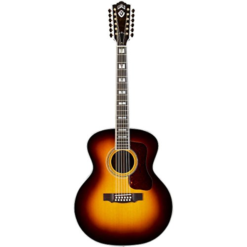 Guild F-512 Acoustic-Electric Guitar With Dtar Multi-Source Pickup System Antique Burst