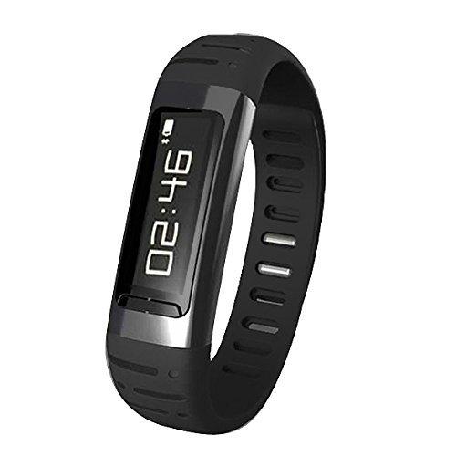 Geekbuying U9 Bluetooth Smart Bracelet Wrist Watch Wifi Hotspots For Iphone Samsung Sony Htc + Geekbuying Nfc Tags Sticker (Black)