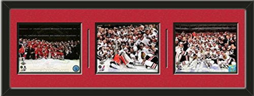 Chicago Blackhawks 2015, 2013, 2010 Stanley Cup Champions Team Celebration Photos Framed Collage