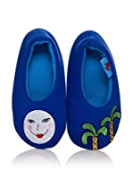 Dolca Zapatillas de estar por casa Moonflower (Azul)