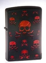 Zippo Lighter Red Skulls