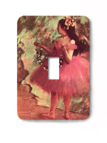 Fine Art Edgar Degas Dancer in a Rose Dress Decorative Steel Switchplate Cover