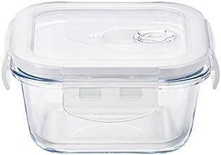 オーブンも使える耐熱ガラス 密封容器 Cook-Lock スクエア 300WT H-8760