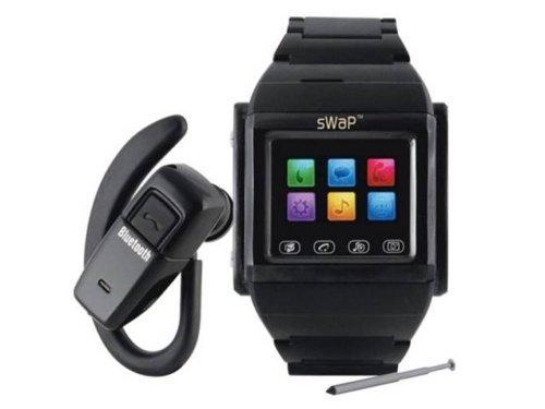 Swap Classic Watch Sim Free / Unlocked Smart Mobile Phone Watch (Web, Camera, Video, Music) - Black