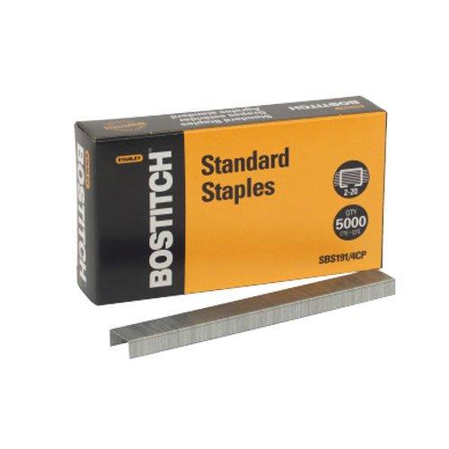 bostitch-premium-standard-staples-full-strip-025-inch-leg-5000-per-box-sbs191-4cp