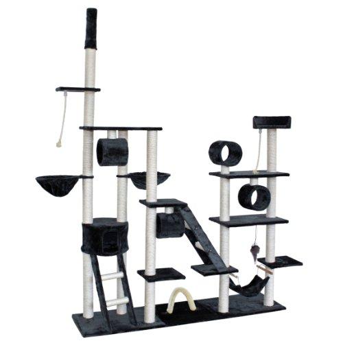 Produktabbildung von TecTake® Luxus Katzenkratzbaum Trauminsel Spielparadies anthrazit