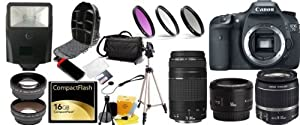 Canon EOS 7D Digital Camera Package With Canon 18-55, Canon 75-300, canon 50 1.8 Lenses, 16GB SDHC Card and More!!!!!