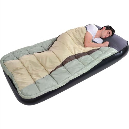 Air Sleeping Bag : Inflatable twin air mattress airbed multi color sleeping