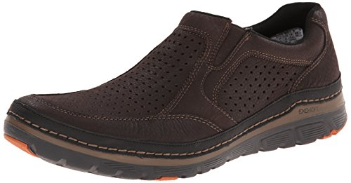Rockport Men's Activflex Sport Perf Slip On Walking Shoe, Dark Brown, 12 M US