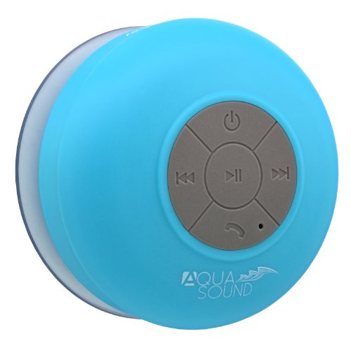 "Aduro Aquasound Wsp20 ""Lifetime Warranty"" Waterproof Shower Bluetooth Portable Speaker (Blue)"