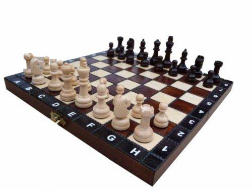 SCUOLA, di base, in legno massello, set di scacchi