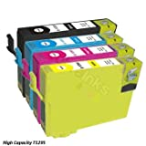 Epson Stylus Office BX525WD Compatible Printer Ink Cartridge Multipack - x1 T1295 Multipack (T1291 Black, T1292 Cyan, T1293 Magenta, T1294 Yellow) High Capacity Inksby Cobra Inks