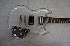 Electric Guitar, clear pyroxy SG body
