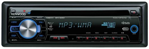 Kenwood Kdc-Mp242 Wma/Mp3 Cd Receiver With Satellite/Hd Radio/Bluetooth Ready Front Panel Aux Input