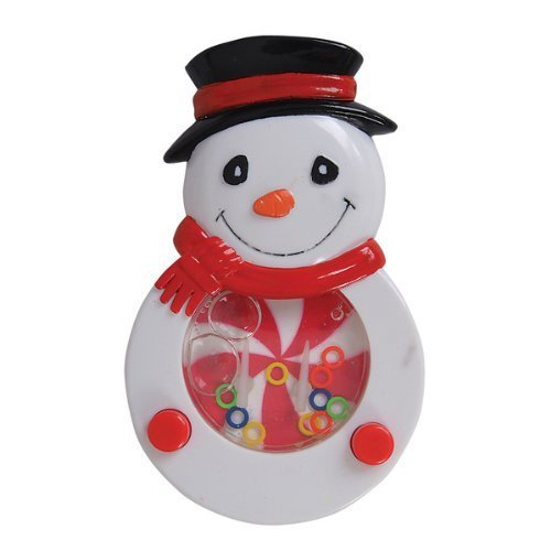 "Snowman Water Game (1 unit), 4.5"" Plastic, New, Christmas Stocking Stuffer, Holiday Party Favor Toy"