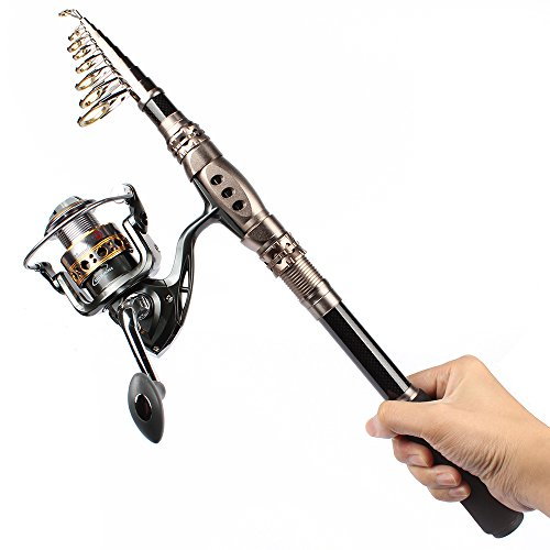Shelure carbon fiber fishing rod and spinning reel combo for Best rod and reel combo for bass fishing