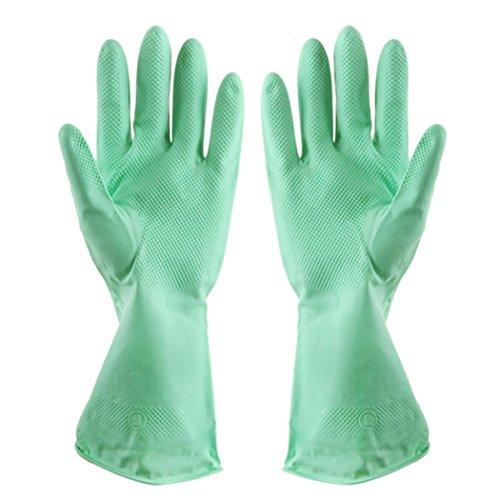 Tinksky Gants de jardinage imperméable en caoutchouc gants de nettoyage lavage long bras Longueur Maison