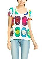 Desigual - T-shirt - Col ras du cou - Manches courtes Femme