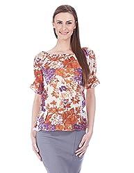 NOI Women's Body Blouse Top (SS13 NOI AJITA_Brown_Medium)