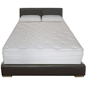 Sleep Master 13-Inch Deluxe Euro Box Top Pocketed Spring Mattress, Queen