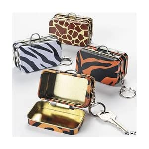 Mini Metal Animal Print Box