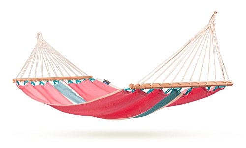 La Siesta Fruta Colombian Single Hammock With Spreader Bars, Lychee (Discontinued By Manufacturer)