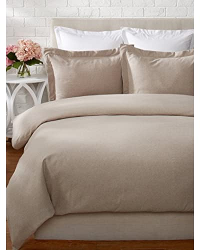 Belle Époque Heathered Solid Flannel Duvet Set