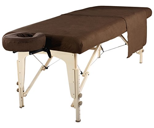 Mt Massage Table Flannel Sheet Set 3 in 1 Table Cover, Face Cushion Cover, Table Sheet, Chocolate