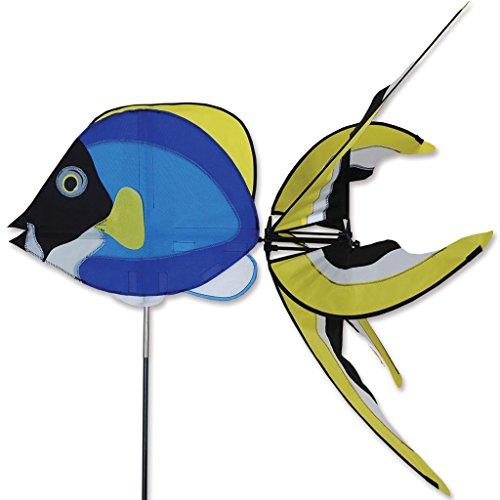 Powder Blue Fish Spinner Home Garden Decor Flag Windsock
