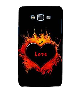 printtech Abstact Love Heart Back Case Cover for Samsung Galaxy E5 / Samsung Galaxy E5 E500F