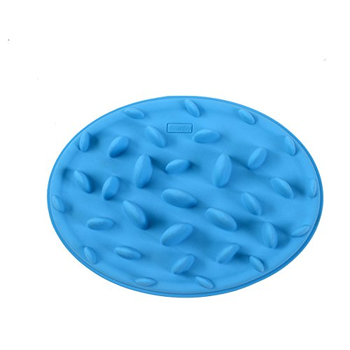 Cojoy Soft Food-grade Silicone Chocking Interactive Fun Slow Pet Feeder Cat Dog Feeding Bowl Anti-gulping Bloat Stop Blue S (Cat Slow Feeding compare prices)