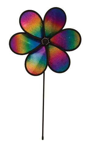 In the Breeze 6-Petal Rainbow Whirl Flower Spinner, 12-Inch