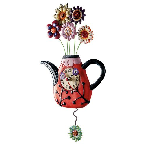 Allen Designs Flower Tea Ful Clock
