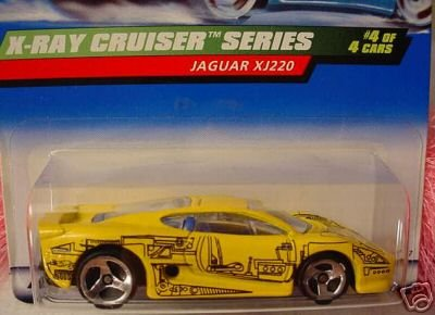 Mattel Hot Wheels 1999 X-Ray Cruiser Series Yellow Jaguar XJ220 4/4 1:64 Scale - 1