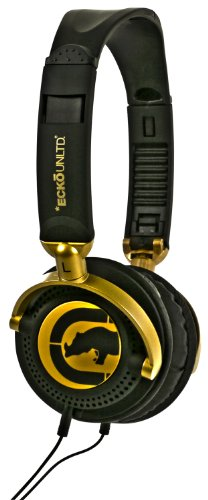 Marc Ecko Unltd Eku-Mtn-Gld Motion Over-The-Ear Headphones (White)