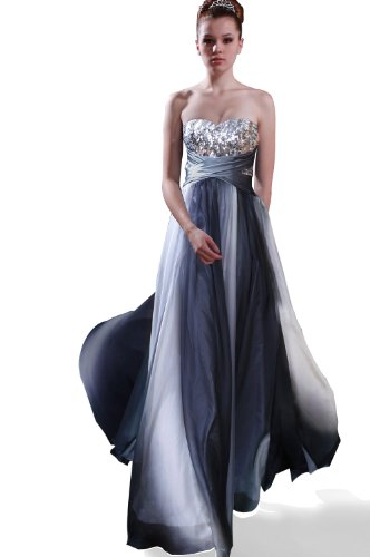 eDressit Grey-Transparent Party Ball Gown Evening Dress (00096356) SZ 14