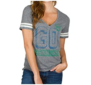 NFL Ladies Seattle Seahawks Tailgate Tee Grey By Junk Food by Junk Food