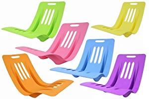 Nalu Beach Plastic Low Chair for Beach or Garden Use *Asst Colours*